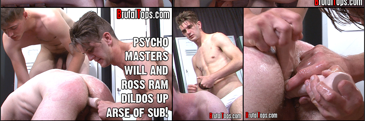 Treading painfully on the sub's dick causes considerable pain to the sub and this is followed by a mean thrashing from the belt-wielding top. Becoming more and more frenzied, the top kicks the sub directly in his balls and seems to cause considerable damage to the defeated rat.