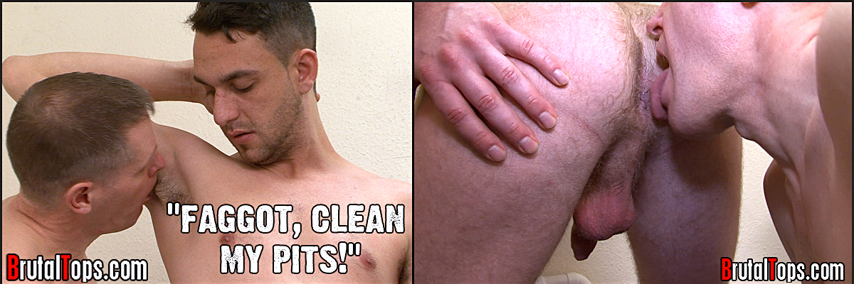 Armpit and jockstrap humiliation for cleaner